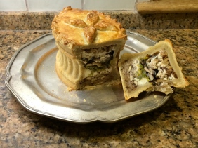 vegetarian hot water crust pastry pie